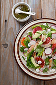 Blood Orange Crab Posole Salad