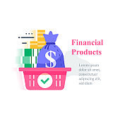 Investment concept, revenue growth, financial solution, pension fund, savings account, fast cash loan