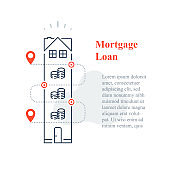 Mortgage loan concept, purchase house, home ownership, down payment