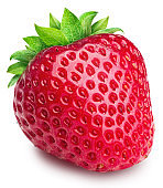 Strawberry isolated on a white background. Clipping path, maximum sharpness.