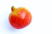 Top view of ripe pomegranate fruit