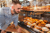 Male baker working at his bakery