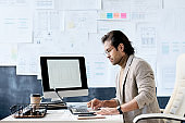 Manager of app design company in office