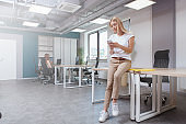 Businesswoman in a modern office