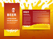 brochure cover beer splash