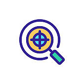 Target icon vector. Isolated contour symbol illustration