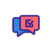 message approved icon vector. Isolated contour symbol illustration