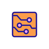 chip icon vector. Isolated contour symbol illustration
