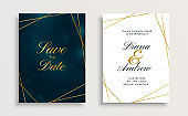 creative royal golden line wedding invitation card design illustration