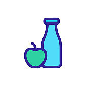Health food icon vector. Isolated contour symbol illustration