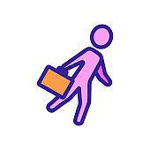 Business portfolio icon vector. Isolated contour symbol illustration