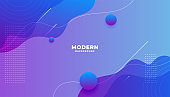 modern vibrant fluid gradient background with curve shapes