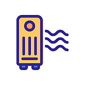 air purifier icon vector. Isolated contour symbol illustration