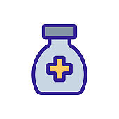 Medical lectesvo icon vector. Isolated contour symbol illustration