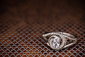 Ring of silver with crystals