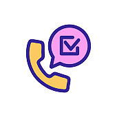 endorsement call icon vector. Isolated contour symbol illustration