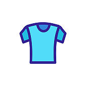 T-shirt icon vector. Isolated contour symbol illustration