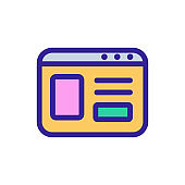 browser icon vector. Isolated contour symbol illustration