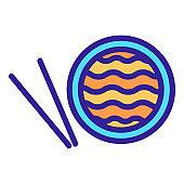 Ramen icon vector. Isolated contour symbol illustration
