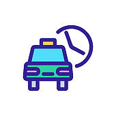 Being a taxi icon vector. Isolated contour symbol illustration