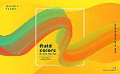 3d fluid flowing motion modern background template vector design illustration