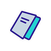 booklet icon vector. Isolated contour symbol illustration
