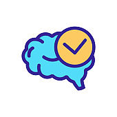 consciousness icon vector. Isolated contour symbol illustration