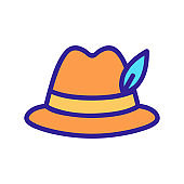 Hat icon vector. Isolated contour symbol illustration