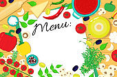 Menu list vector