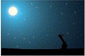 Stargazing background
