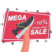 Mega sale template for advertising and promotion.