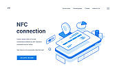 Web banner for innovative NfC connection advertisement
