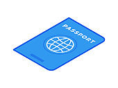 Vector design of cartoon passport for travel concept
