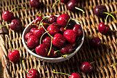Raw Red Organic Cherries