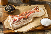 Raw Organic Uncured Salty Bacon