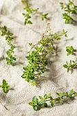 Raw Green Organic Thyme Herb