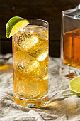 Boozy Whiskey Ginger Ale Cocktail