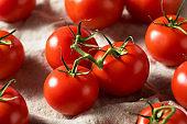 Raw Organic Vine Ripe Red Tomatoes