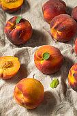 Raw Orange Organic Peaches