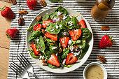 Homemade Organic Fresh Strawberry Salad