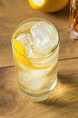 Alcoholic Whiskey and Soda Highball