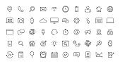 Set of Contact Us web icons in line style. Web and mobile icon. Chat, support, message, phone. Vector illustration.