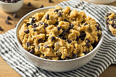 Raw Homemade Chocolate Chip Cookie Dough