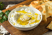 Homemade Yogurt Labneh Cheese Dip