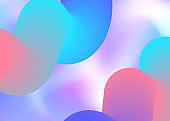 Fluid shape background with liquid dynamic elements.