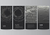 Vector layout of flyer, banner templates for website advertising design, vertical flyer design, website decoration. Abstract 3d digital backgrounds for futuristic minimal technology concept design.