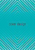 Minimalistic cover template set with gradients