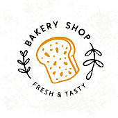 Fresh bread Bakery logotype badge label