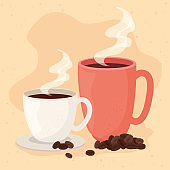 poster of mug and cup of coffee