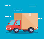 truck of delivery logistic service